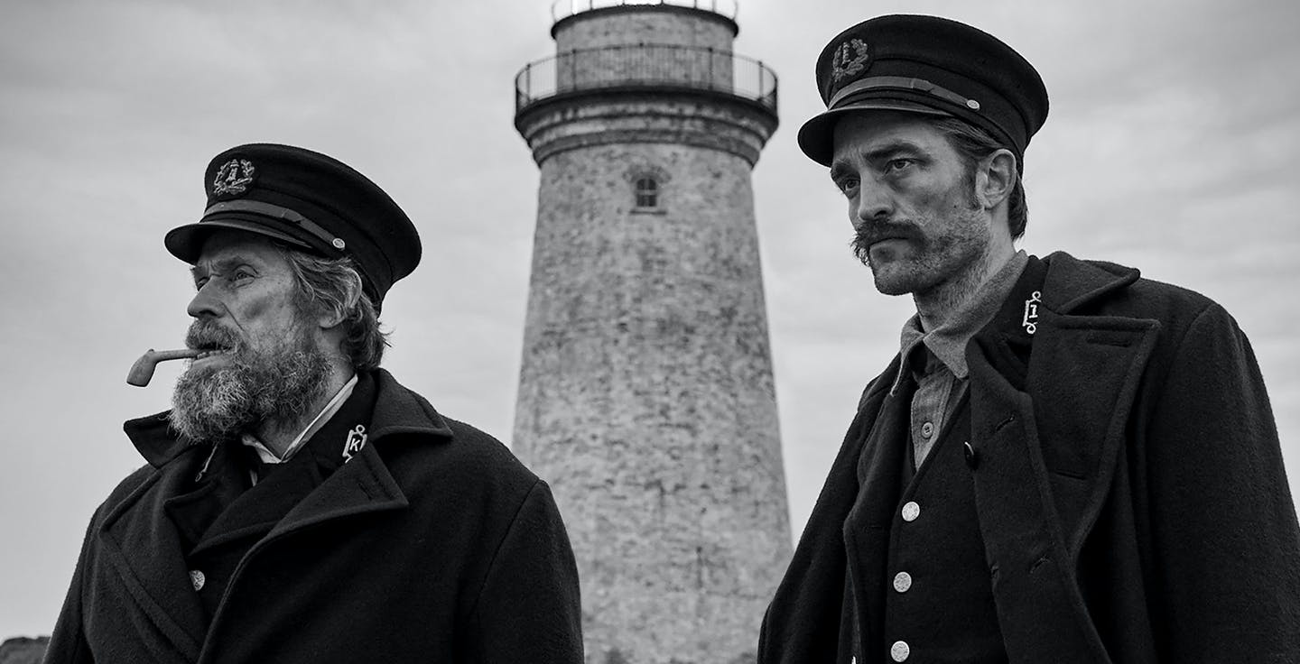 Willem Dafoe y Robert Pattinson en el Faro